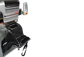 El sistema modular de las máquinas de bordar Melco le permitirá rentabilizar hasta los pedidos pequeños